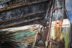 Burghead fishing boat detail in Scotland. Royalty Free Stock Photo