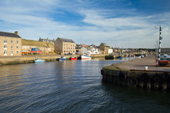 Burghead harbour Stock Images