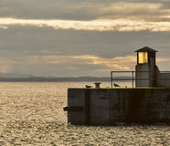 Burghead harbour entrance. Royalty Free Stock Photo