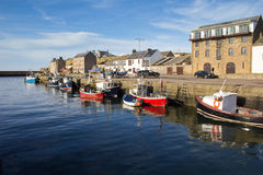 Burghead harbour, Scotland Stock Photo