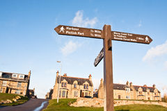 Burghead signpost Royalty Free Stock Photos