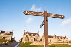 Burghead signpost Royalty Free Stock Photos