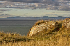 Burghead view of Cromarty. This is view towards Cromarty and across the firth, Moray, Scotland Stock Photography