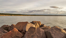 Burghead a view of Roseisle. Royalty Free Stock Photo