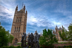 Burghers of Calais monument, Houses of Parliament,, London, UK Royalty Free Stock Photography