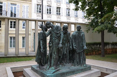 Burghers Calais przy Musee Rodin, Paryż Fotografia Royalty Free