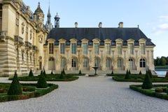 Burghof in Chantilly, Frankreich Lizenzfreies Stockbild
