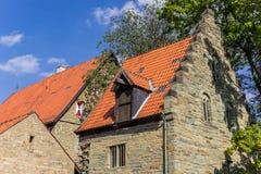 Burghof museum i den historiska mitten av Soest Arkivbild