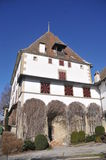 Burgistein Castle. The beautiful privately owned Burgistein castle is located in village of the same name. From the castle one has a beautiful view to the Stock Photo