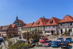 Burgkunstadt - praça da cidade histórica Foto de Stock