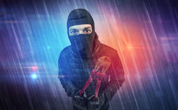 Burglar in action. Stock Photography