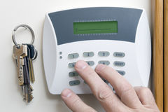 Burglar alarm. Signaling of domestic safety door Royalty Free Stock Image