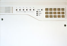 Burglar alarm. A close up photo of a burglar alarm with plenty of space for text Royalty Free Stock Photos