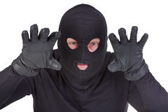 Burglar attack Stock Photos