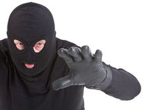 Burglar attack Stock Images