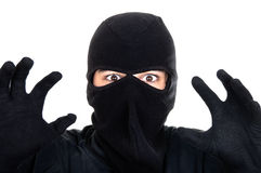 Burglar attack Stock Photo