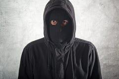 Burglar in black stock photos