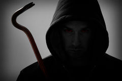 Burglar with crowbar Royalty Free Stock Photo