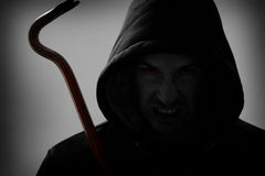 Burglar with crowbar Royalty Free Stock Images
