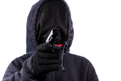 Burglar without a face Stock Photo