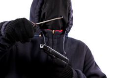 Burglar without a face Stock Image