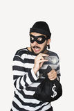 Burglar. Got caught whlie he is making robbery stock photography