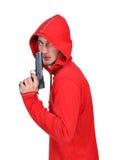 Burglar with gun Stock Image