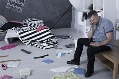 Burglar has visited him... royalty free stock photo