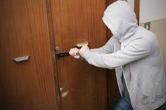 Burglar home theft Royalty Free Stock Photo