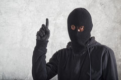 Burglar with an idea Stock Photos