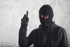 Burglar with an idea Stock Photos
