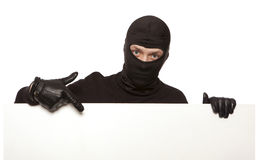 Burglar, ninja isolated Stock Images