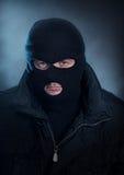 Burglar portrait stock photography