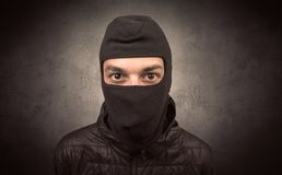 Burglar with tool. Royalty Free Stock Photos