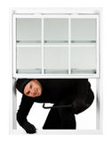 Burglar: Thief Happy to Break In Royalty Free Stock Photography
