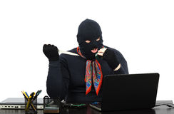 Burglar threatens murder by cell phone Royalty Free Stock Photos