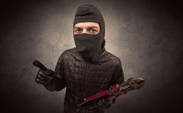 Burglar with tool. Stock Photography
