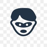 Burglar vector icon isolated on transparent background, Burglar stock illustration