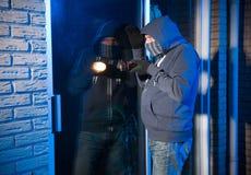 Burglar at work stock photo