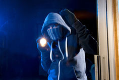 Burglar at work Stock Photography