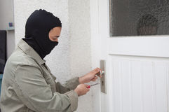 Burglar at work Royalty Free Stock Photography