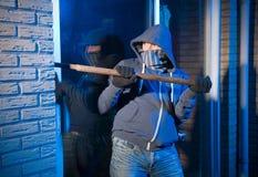 Burglar at work Stock Photography