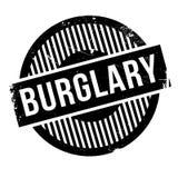 Burglary rubber stamp Stock Photos