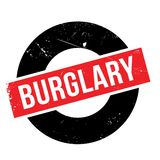 Burglary rubber stamp Royalty Free Stock Images