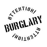 Burglary rubber stamp Stock Image