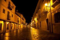 Burgo de Osma street at night Stock Images