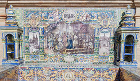 Burgos. Andalusian ceramic Poster depicting historic moments of the city of Burgos Royalty Free Stock Photography