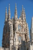Burgos. (Spain) cathedral detail with blue sky background stock images