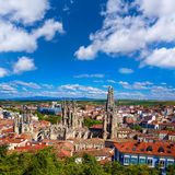 Burgos aerial view skyline with Cathedral in Spain Royalty Free Stock Photo