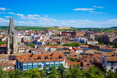 Burgos aerial view skyline with Cathedral in Spain Royalty Free Stock Image